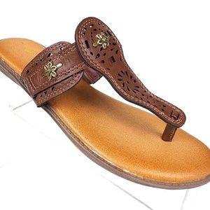 MARBELLA Sandals Womens Flats Flip Flop Thong Sz 8